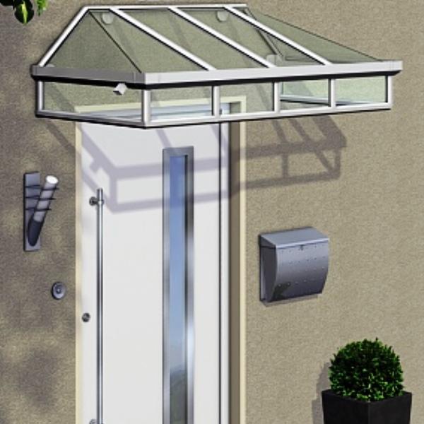 Trapezvordach Wetzlar aus Aluminium AA515T