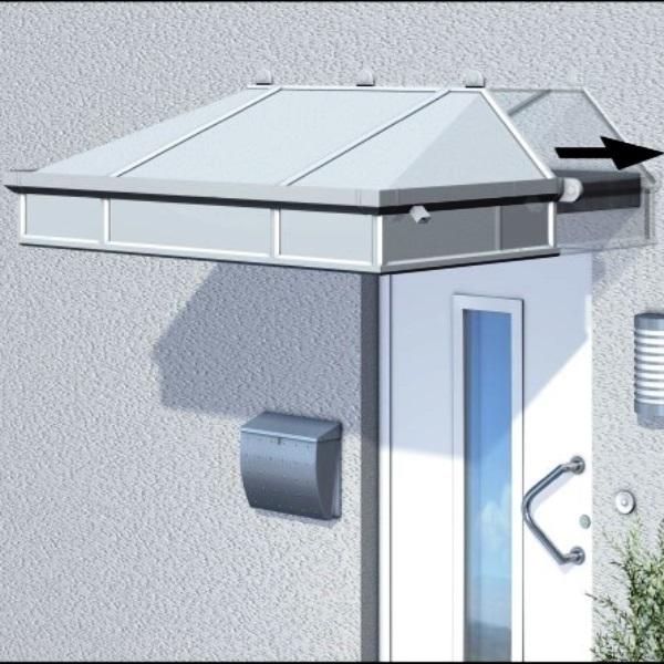 Überschubvordach Weimar aus Aluminium AA531T