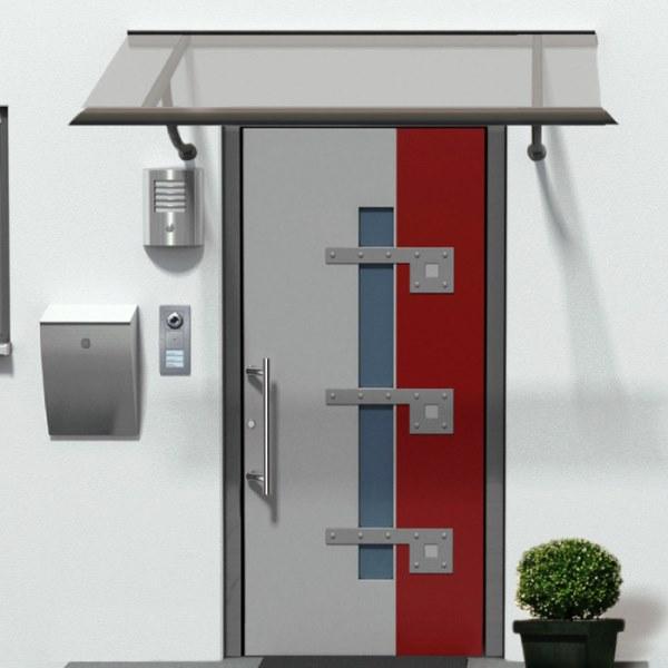 HAKU Pultvordach aus Aluminium Design AV800P