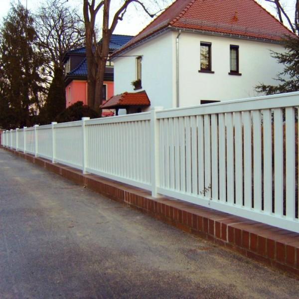 Zaun und Tor aus Aluminium Modell Dresden