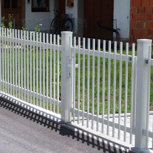 Zaun und Tor aus Aluminium Modell Palisade