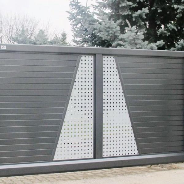 Zaun und Tor aus Aluminium Modell Trap